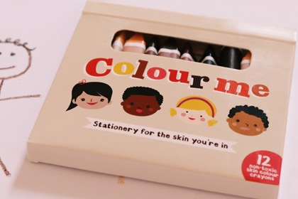 Colour Me Kids Skin Colour Crayons Box